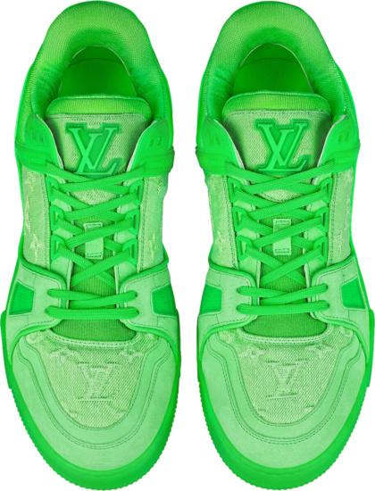 Louis Vuitton Neon Green Lv Trainer Sneakers