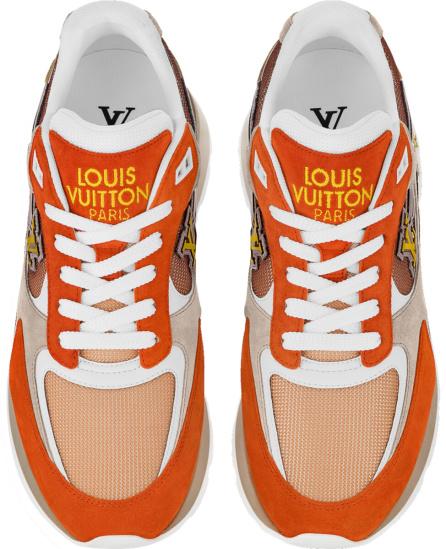 Louis Vuitton Orange And Brown Run Away Sneakers