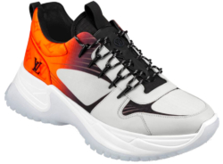 Louis Vuitton Orange And Grey Sneakers