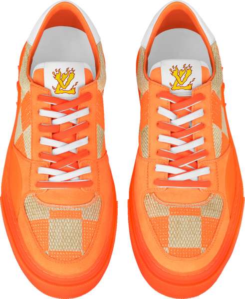 Louis Vuitton Orange Damier Low Top Sneakers