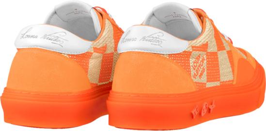 Louis Vuitton Orange Damier Lv Ollie Sneakers