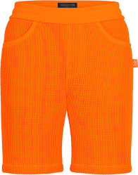 Louis Vuitton Orange Waffle And Damier Trim Shorts