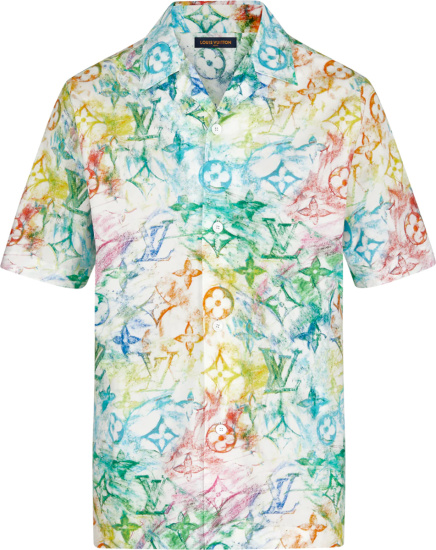 Louis Vuitton Pastel Monogram Hawaiian Shirt