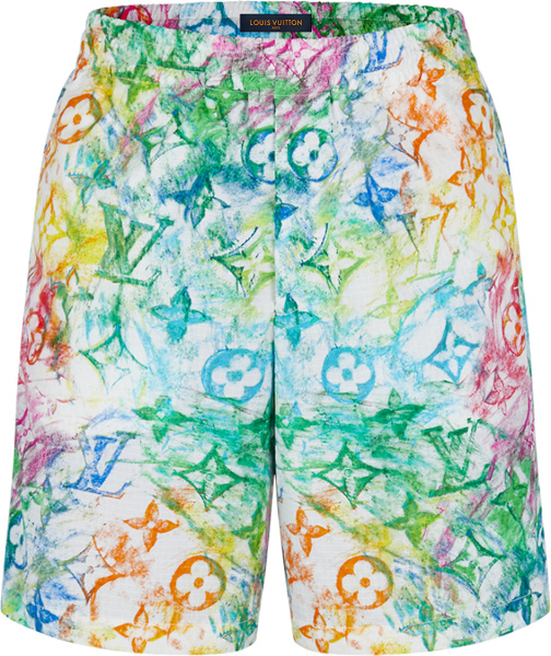 Louis Vuitton Pastel Monogram Shorts 1a8h1h