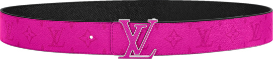 Louis Vuitton Pink Monogram Lv Initiales Belt Copy