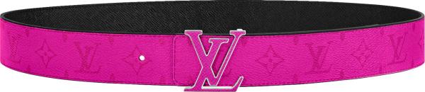 Louis Vuitton Pink Monogram Lv Initiales Belt Copy