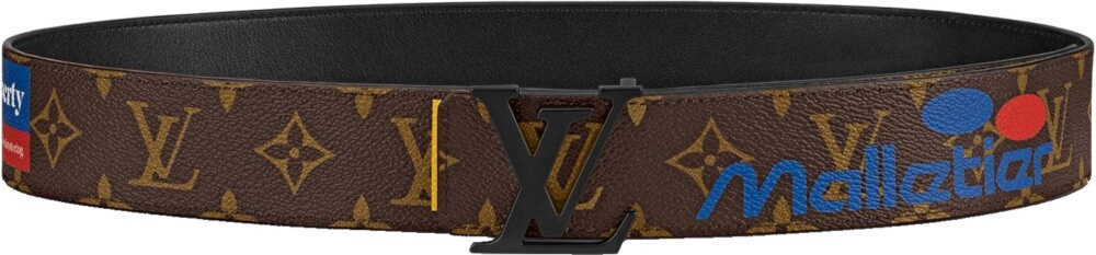 Louis Vuitton Printed Brown Leather Belt