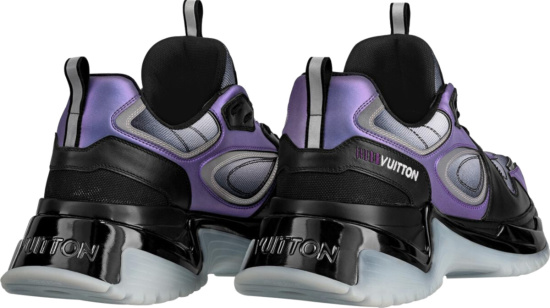 Louis Vuitton Purple Black And Translucent Sneakers