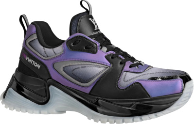 Louis Vuitton Purple Black Run Away Pulse Sneakers