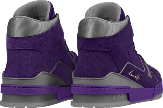 Louis Vuitton Purple High Top Sneakers
