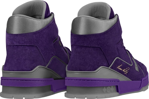 Louis Vuitton Purple High Top Sneakers