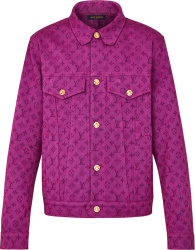 Louis Vuitton Purple Monogram Denim Jacket