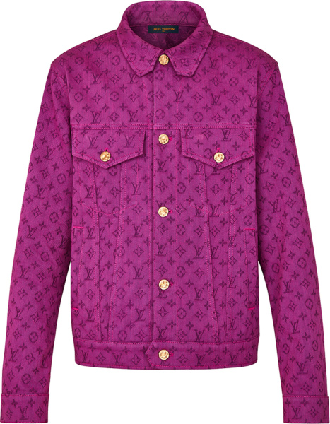 Louis Vuitton Purple Monogram Denim Jacket