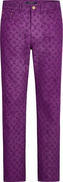 Louis Vuitton Purple Monogram Jeans 1a5p3v