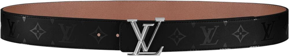 Louis Vuitton Pyramide Black Leather Illusion Belt