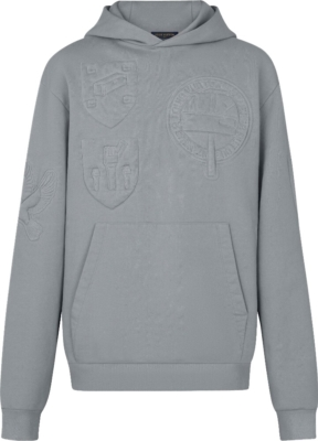 Louis Vuitton Quilted Patch Grey Hoodie