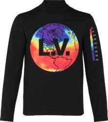 Louis Vuitton Rainbow World Knit Black Mock Neck