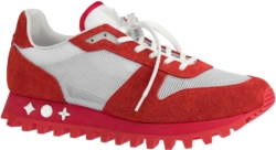 White & Red 'Runner' Sneakers