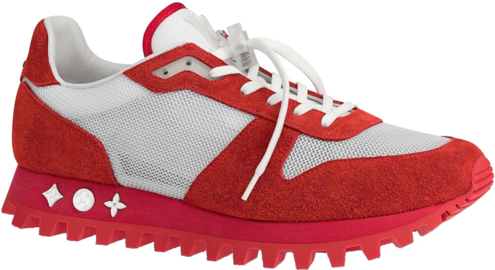 Louis Vuitton Red And White Runner Sneakers
