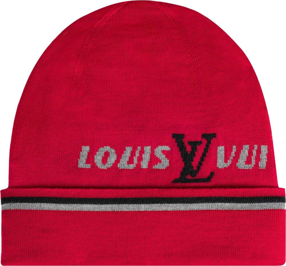 Louis Vuitton Red Forward Beanie