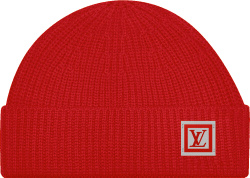 Louis Vuitton Red Knit Hipster Beanie