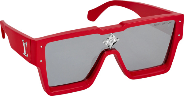 Louis Vuitton Red Large Square Cyclone Sunglasses