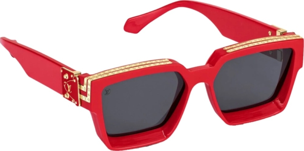 Louis Vuitton Red Millionaires 1.1 Sunglasses