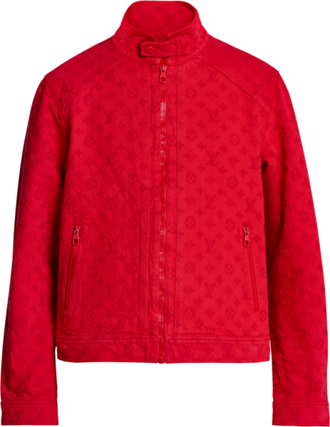 Louis Vuitton Red Monogram Denim Jacket