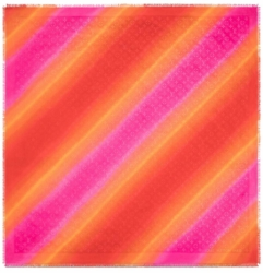 Louis Vuitton Red Orang And Pink Monogram Scarf