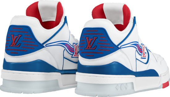Louis Vuitton Red White And Blue Low Top Sneakers