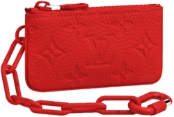 Red Monogram 'Pochette CLE' Chain Bag