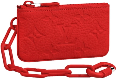 Louis Vuitton Red Zip Pouch With Chain