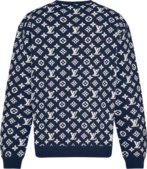 Louis Vuitton Royal Blue And White Full Monogram Sweatshirt