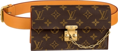Louis Vuitton S Lock Monogram Print Belted Pouch
