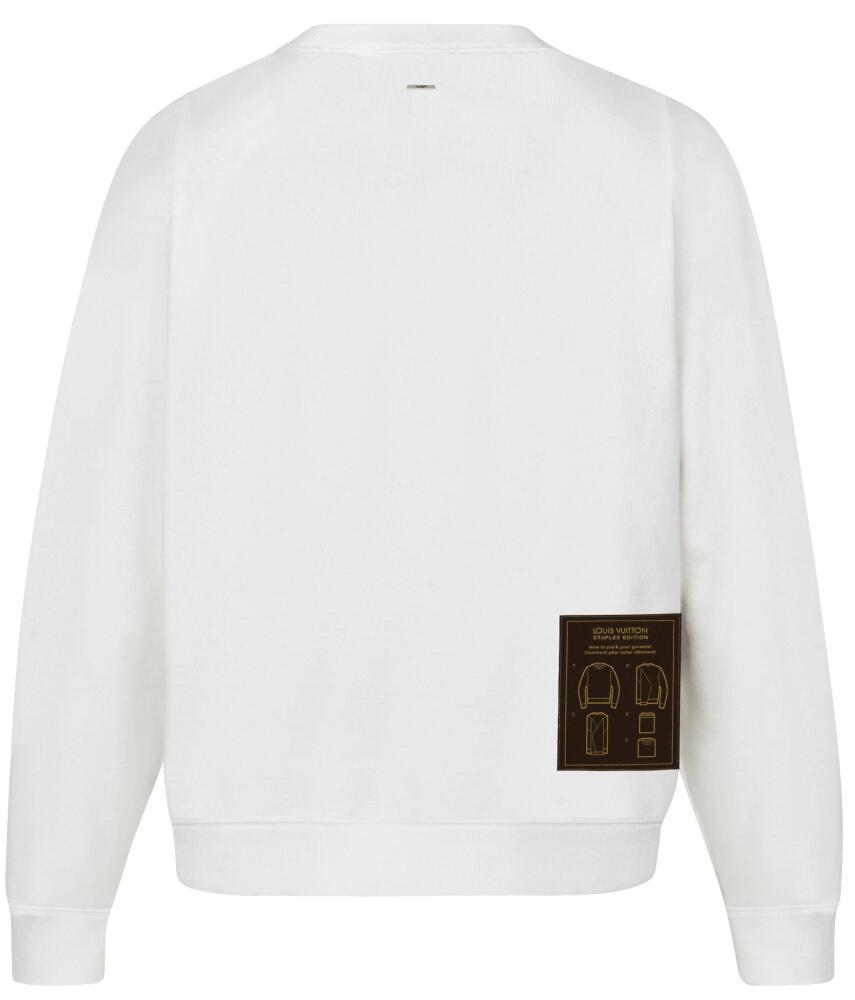 Louis Vuitton Shite Sweatshirt With Brown Patch