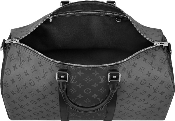 Louis Vuitton Silver And Black Monogram Keepall