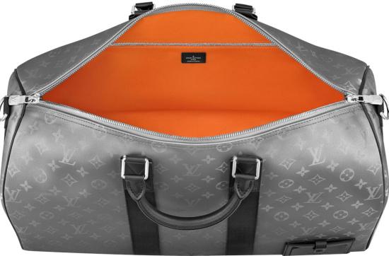 Louis Vuitton Silver Keepall 50 Duffle Bag