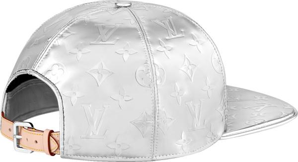 Louis Vuitton Silver Metallic Monogram Mirror Mirror Baseball Hat