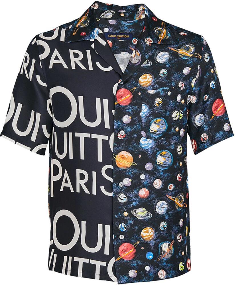 Louis Vuitton Split Logo Print And Space Shirt