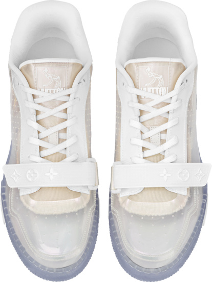 Louis Vuitton Transparent And White Strap Lv Trainer Sneakers