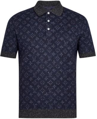 Louis Vuitton Tweet Monogram Blue Polo Shirt