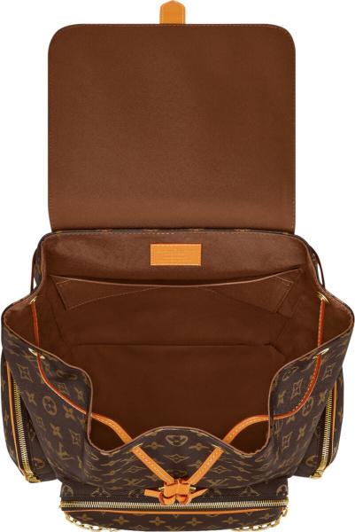 Louis Vuitton Two Tone Brown Monogram Flap Backpack