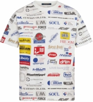 Allover Logos Print White Shirt