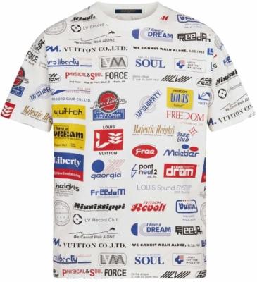 Louis Vuitton White Allover Logos Print Shirt