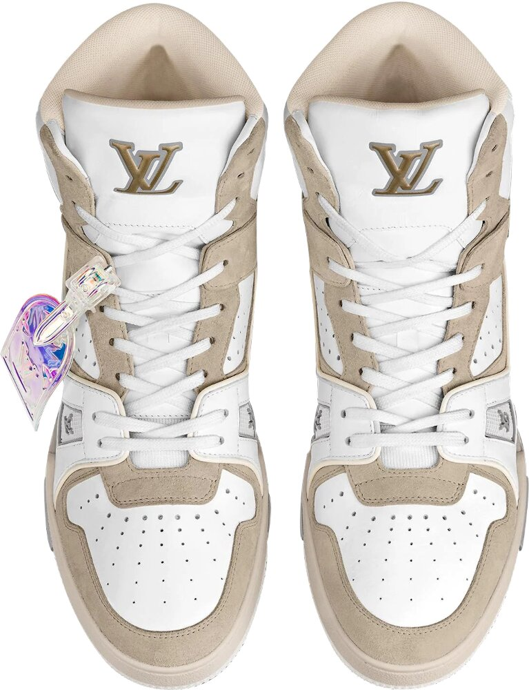 Louis Vuitton White And Beige Sneaker Boot