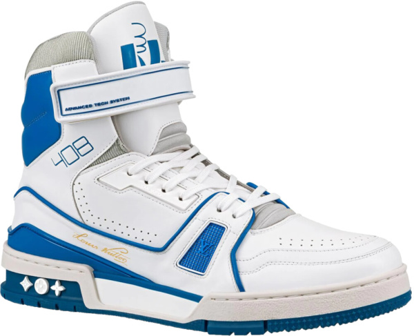 Louis Vuitton White And Blue Sneaker Boot 1a54jc