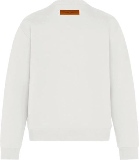 Louis Vuitton White And Multicolor Monogram Sweatshirt