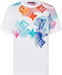 Louis Vuitton White And Multicolor Watercolor Monogram T Shirt 1a8qwb