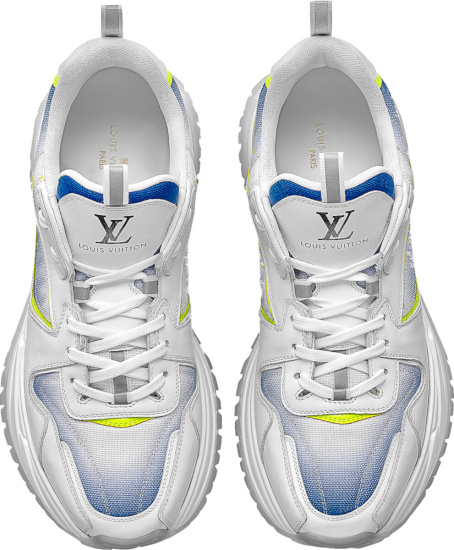 Louis Vuitton White Blue Gradient Run Away Pulse Sneakers