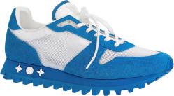 Louis Vuitton White Blue Runner Sneakers